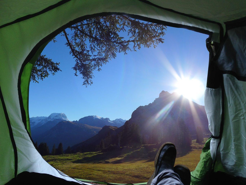 pole namiotowe w bieszczadach